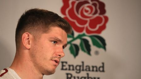 England's Owen Farrell during the press conference at Keio Plaza Hotel, Tokyo. Picture: ADAM DAVY/PA
