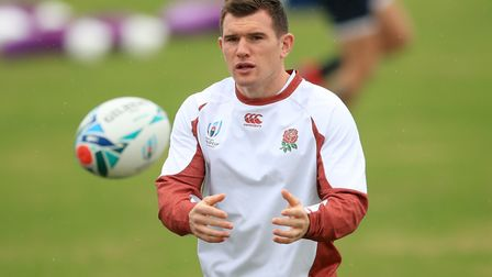 England's Ben Spencer during the training session at Fuchu Asahi Football Park, Tokyo. Picture: ADAM