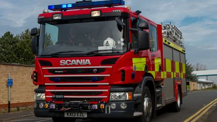 The fire service attended the incident, where they found a man trapped on the second floor of a buil