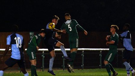 Action from St Neots Town's draw at Biggleswade FC. Picture: DAVID R. W. RICHARDSON/RICH IN VIDEO 20