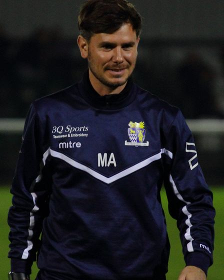 St Neots Town manager Marc Abbott finally had something to smile about as his side drew 0-0 at Biggl