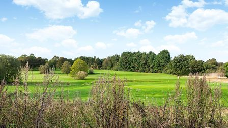 The property enjoys amazing views over Redbourn Golf Club. Picture: Savills