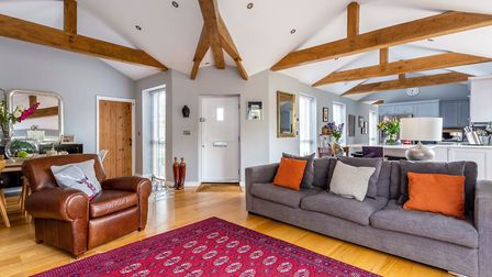 The front door leads to an open plan living space. Picture: Savills