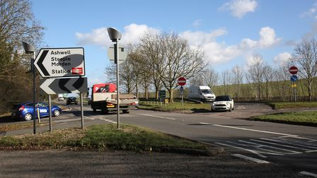 The busy A505 Odsey turning viewed from Station Road. Picture: Danny Loo