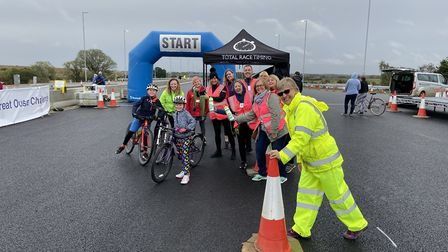 The race on the A14 raised money for two charities