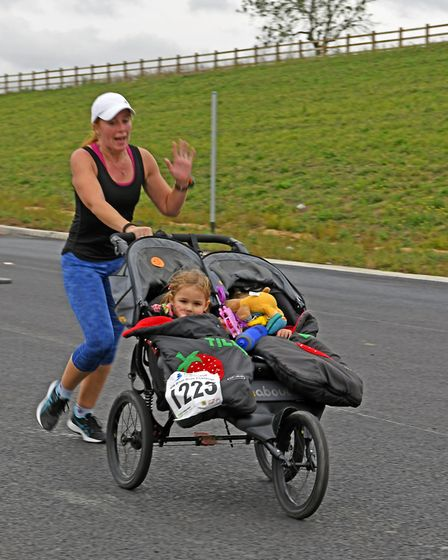 Bike and foot races were held on a new stretch of the A14 near Huntingdon. Picture: ARCHANT