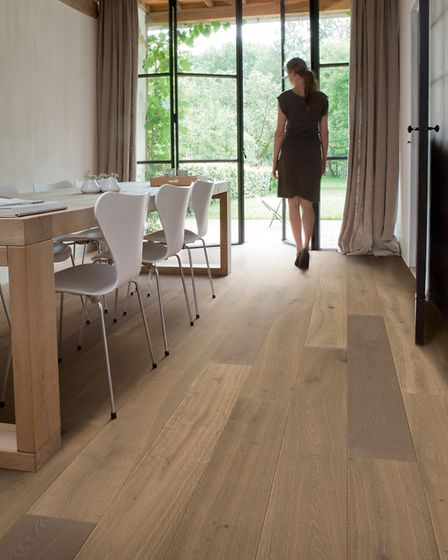 Multifit: the gloriously varied tones of the Quickstep Palazzo Latte Oak provide a sense of warming