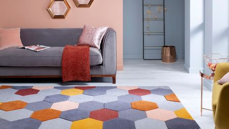 Statement: this hand-tufted rug is 100 per cent wool and boasts a 3D effect thanks to its carefully