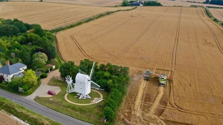 Great Chishill Windmill has been removed from Historic England's Heritage at Risk Register. Picture: