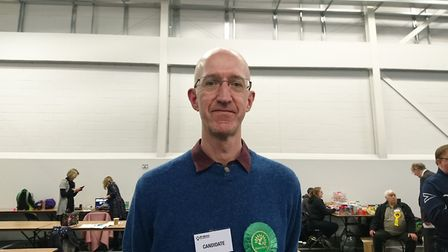 Simon Grover, the Green Party candidate for St Albans. Picture: Anne Suslak