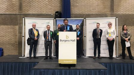 Mr Djanogly was re-elected as the MP for Huntingdon at 3:15am at One Leisure St Ives.