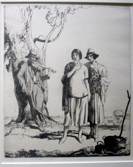 E H Whydale was famous for his etchings, and become known around the world. Picture: Courtesy of Roy