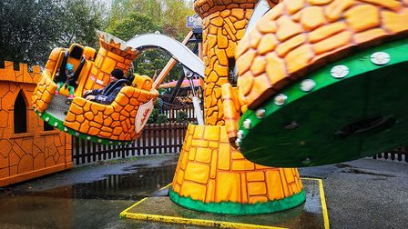 Gulliver's Land, Dinosaur and Farm Park - on the Jousting Castles ride.