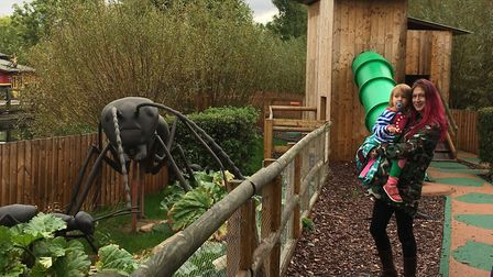Gulliver's Land, Dinosaur and Farm Park: face-to-feelers with a giant ant.