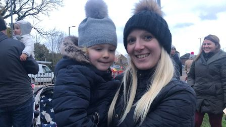 St Albans residents gather to greet Children in Need Rickshaw Challenge. Picture: Laura Bill