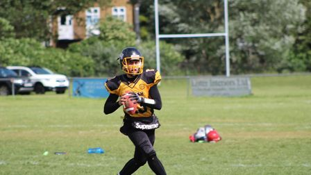 Sonny Hack of Hertfordshire Cheetahs has been selected for the GB U19 American football side. Pictur