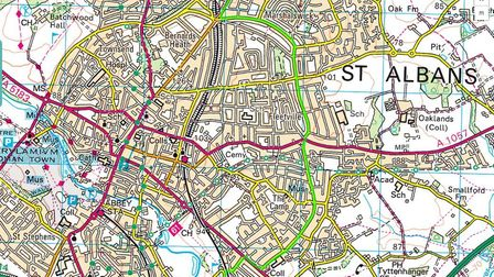 GREEN ROUTE: Upon entering St Albans, the route is scheduled to head along Marshalswick Lane and Bee