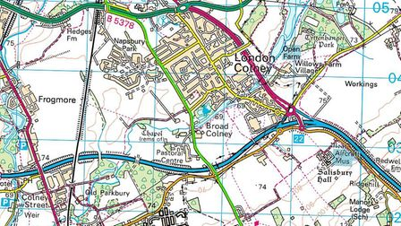 GREEN ROUTE: Crossing the A414 North Orbital Road, the rickshaw will then take in the outskirts of L