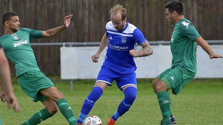 Josh Dawkin scored one of the goals as Godmanchester Rovers won at lowly Gorleston. Picture: DUNCAN