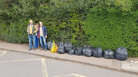 Guy Turner carried out a litter pick in Carlton Road, Harpenden.