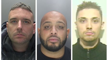 Kieran Kenna, Jason Robinson, Dean Dias and William Roberts (not pictured), were jailed for their in