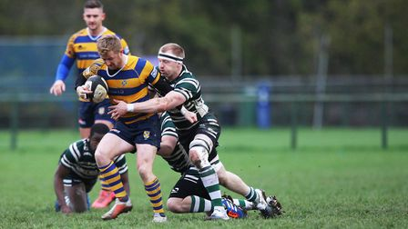 St Albans V Hendon - George Saunders in action for St Albans.Picture: Karyn Haddon