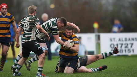 St Albans V Hendon - Liam Rogers in action for St Albans against Hendon. Picture: Karyn Haddon