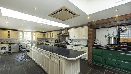The kitchen/family/breakfast room at Leaside House. Picture: John Curtis