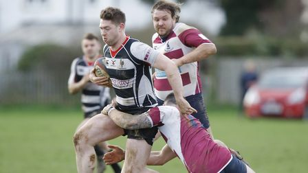 Max Baggio scored the dramatic last-gasp try that led to Harpendens shock win over North Walsham. Pi