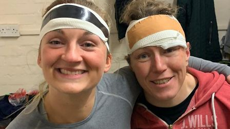 Alice Finn and Rocky Clark were both walking wounded for OA Saints after their match with Blackheath