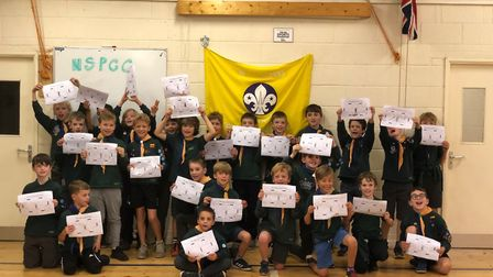 St Albans Cubs held a charity fundraiser for the NSPCC. Picture: NSPCC