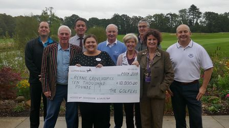 Mike Hodge's golf day raised £10,000 for Rennie Grove Hospice Care. Picture: Rennie Grove