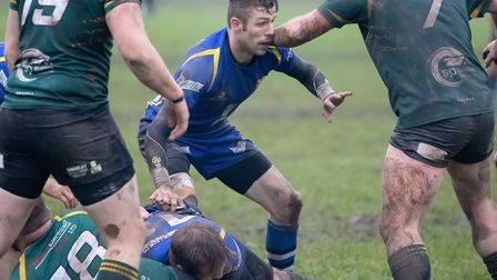 Warwick Brittany in action for St Ives during their defeat to Vipers. Picture: PAUL COX
