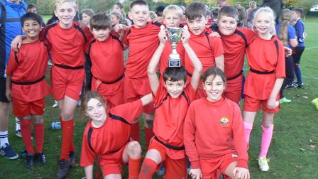 Alconbury CofE Primary School celebrated victory in the 'A' competition at the annual Hunts School S