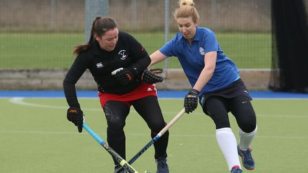 Amy Kee got one of the Potters Bar goals against St Albans. Picture: DANNY LOO