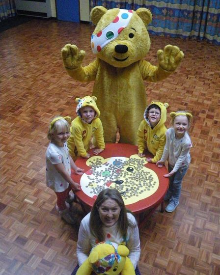 Pudsey visited Crosshall Infant School