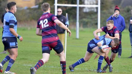 Action from St Neots' defeat to Spalding in Midlands Division Three East (South) last Saturday. Pict