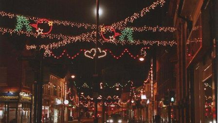 The Christmas lights will be switched on in towns across Huntingdonshire