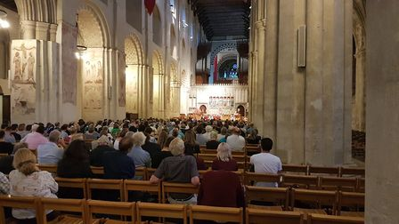 The audience at the St Albans cathedral hustings