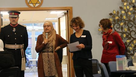 St Albans Masorti Synagogue co-hosted a tea for Syrian refugees with Herts Welcomes Refugees. Pictur