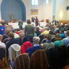 Environmental hustings in St Albans during the 2015 General Election campaign.