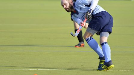 Owen Edwards in action in St Neots 1sts' draw with Leadenham 1sts in the East Men's League. Picture: