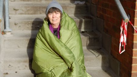Mayor of St Albans Cllr Janet Smith will take part in the St Albans Sleepout to raise money for home