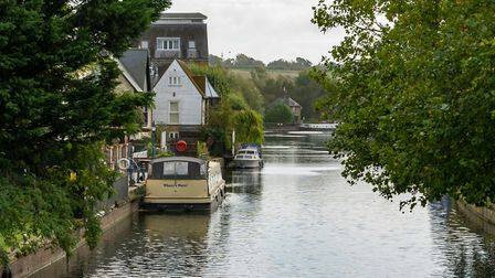The River Lea, Ware. Picture: DANNY LOO