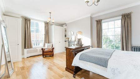 The master bedroom has its own en suite. Picture: Micahel Graham