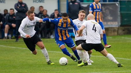 Wealdstone faced Royston Town in the FA Trophy (pic Mont Image Media)