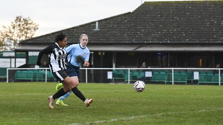Colney Heath Ladies hosted Bowers & Pitsea in the Eastern Region Premier Division. Picture: JAMES LA