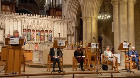 General Election hustings at St Albans Cathedral.