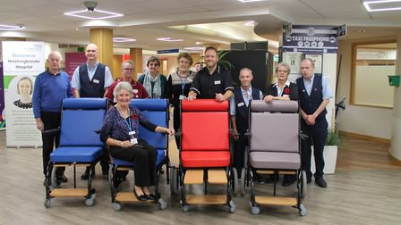 The Friends of Hinchingbrooke Hospital donated a set of new wheelchairs. Picture: CONTRIBUTED