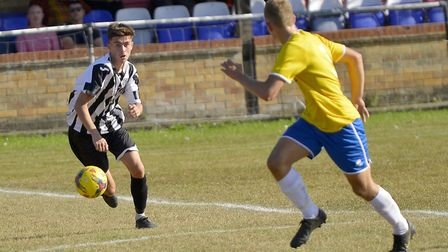 St Ives Town striker Dylan Wilson scored in their 2-2 draw against Stratford Town. Picture: DUNCAN L